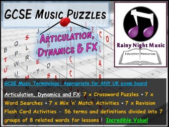 GCSE Music Language for Learning TECHNOLOGY TECHNIQUES Bellringers Starters Revision Activities