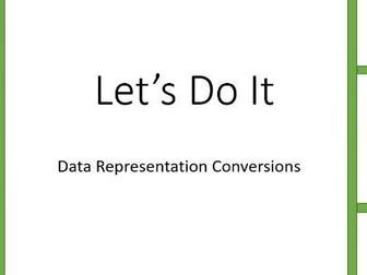 GCSE Computer Science 9-1 Data Representation Conversion