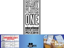 Ready Player One Movie Guide | Questions | Worksheet (PG13 - 2018)