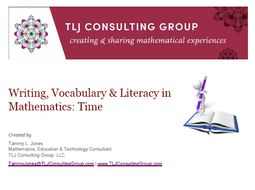 Writing, Vocabulary & Literacy in Mathematics: Time (Primary)