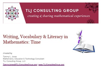 Writing, Vocabulary & Literacy in Mathematics: Time (Primary)