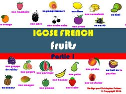IGCSE French: Food and drink (Part 1): Fruit