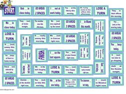 Present Simple Tense Statements Animated Board Game