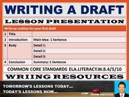 Writing a draft lesson presentation by john421969 teaching.