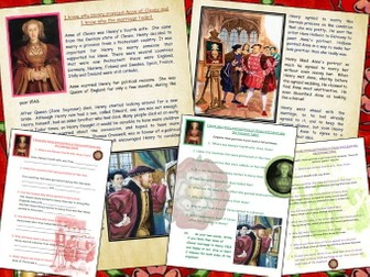 Anne of Cleves and Henry VIII Double activity comprehension Tudors