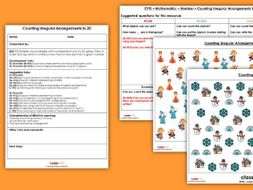 EYFS Maths EYFS Counting Irregular Arrangements (to 20) Planning, Resources & Observation Pack