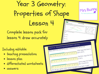4. Geometry: draw accurately lesson pack (Y3)