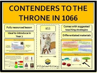 Contenders to the throne in 1066