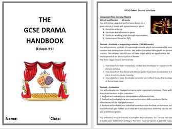 GCSE Drama Eduqas NEW SPEC handbook for students