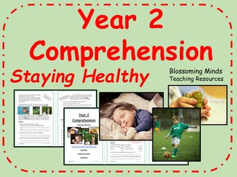Year 2 Reading Comprehension - Staying Healthy - Science