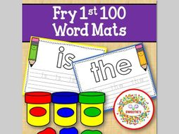 Sight Word Mats: Fry 1st 100 Word Mats – Color