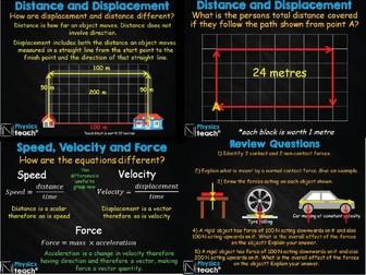 GCSE AQA Physics - Scalars and Vectors (+ Forces)