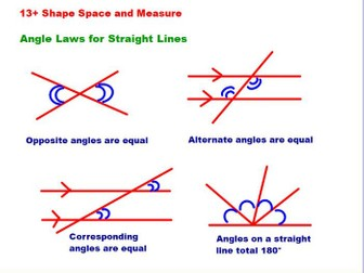 Angle Laws for Straight Lines