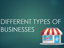 Introduction to Business: Types of Business