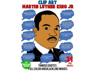 MARTIN LUTHER KING JR QUOTES | CLIPART | MARTIN LUTHER KING ACTIVITIES | MLK