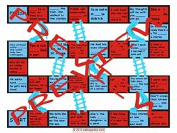 Linking Words and Connectors Chutes and Ladders Board Game