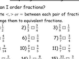 Comparing And Ordering Fractions By Nextweeksorted  Teaching  Comparing And Ordering Fractions By Nextweeksorted  Teaching Resources   Tes