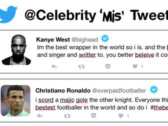 Celebrity Tweets - Proof Reading activity