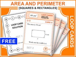 Area and Perimeter (Loop Cards)