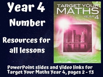 Target Your Maths Year 4 - Numbers (resources for all lessons)