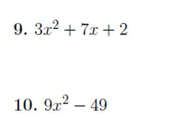 Factorising quadratics worksheet no 2 (with solutions)