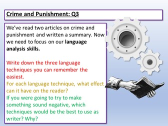 Language Paper 2 - Q3 Language Analysis