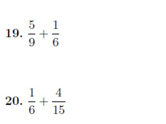 Adding and subtracting fractions worksheet (with solutions)
