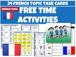 Free Time Activities French Task Cards