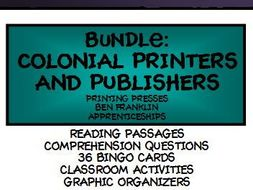 BUNDLE: COLONIAL PRINTERS, PUBLISHERS AND PUBLICATIONS