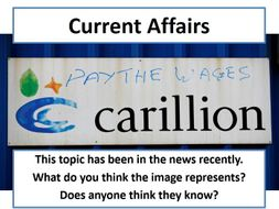 Current Affairs Form Time Activity - Carillion Collapse