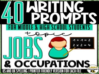 Daily Writing Prompts | Jobs | Middle and High School