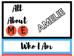 Who Am I? Flip Book (New Class Activity)
