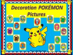 Pokemon Decoration POKÉMON Pictures Bilingual Stars Mrs. Partida