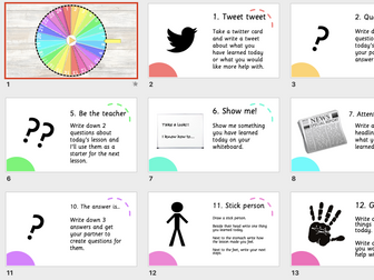 Digital plenary wheel - 24 plenary ideas
