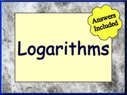 Logarithms - An Excellent Worksheet with answers