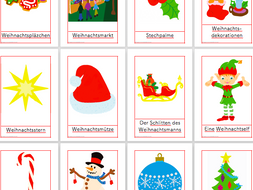 25 Christmas vocabulary Flashcards in German- Weihnachten
