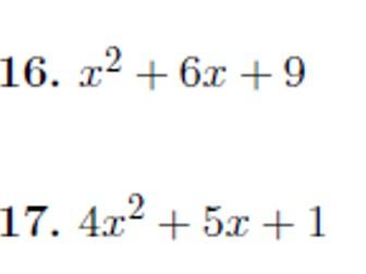 Factorising quadratics worksheet no 6 (with solutions)