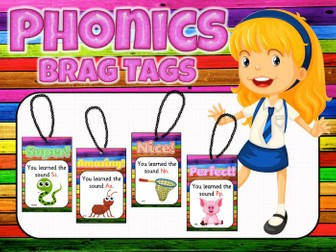 Jolly Phonics Brag Tags