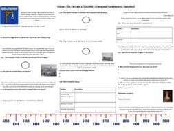 BBC History File - Britain 1750-1900 - Episode 2 - Crime and Punishment - Supporting Worksheet