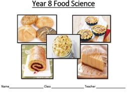 KS3 Food schemes of work food science and nutrition