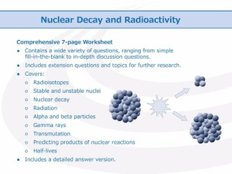 Nuclear Decay and Radioactivity [Worksheet]