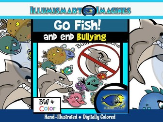 GO FISH! End Bullying! 20 Pc. ClipArt Set!