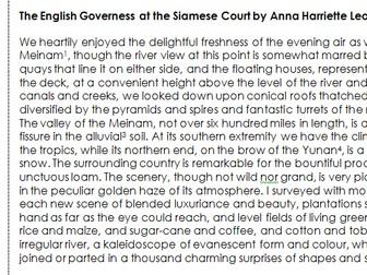 GCSE English Language Paper 2 - Unseen 19th Century Non-Fiction - Anna Leonowens