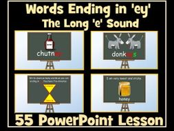 -ey words: words ending -ey with the Long 'e' Sound