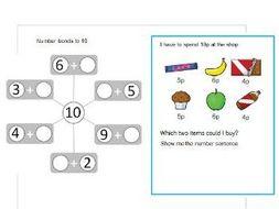 number bonds to 10 worksheet