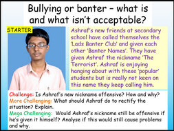 Bullying or Banter? PSHE 2020