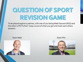 GCSE PE Revision game