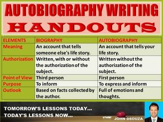 AUTOBIOGRAPHY HANDOUT