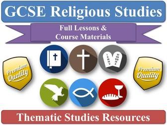 AQA GCSE Religious Studies: Theme D - Religion, Peace & Conflict - Full Lessons