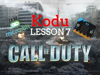 Kodu - Call of Duty with Microbits - Lesson 7